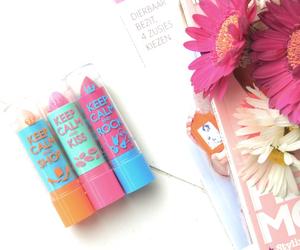 lips, balm, and fashion image