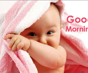 baby, funny, and good morning image