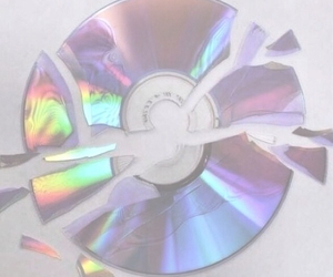 cd, rainbow, and grunge image
