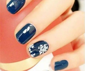 nails, winter, and blue image