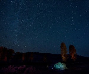 camp, night, and tent image