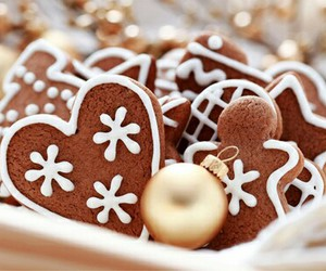 christmas, heart, and Cookies image