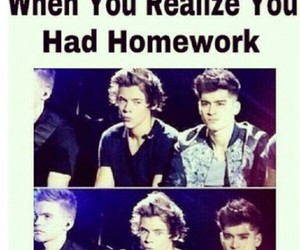 homework and one direction image