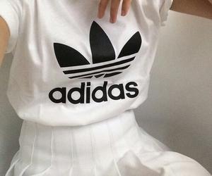 adidas, white, and grunge image