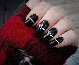 black, nails, and heart image