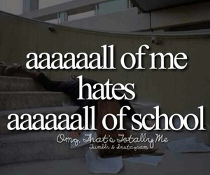 all, hate, and school image