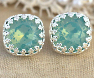 bridal, earrings, and fashion image