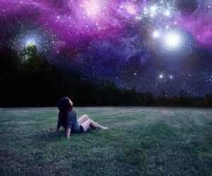 alone, galaxy, and peace image