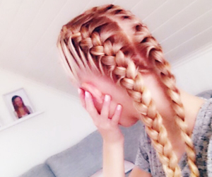 blonde, pink, and nails image