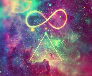 infinity, galaxy, and peace image