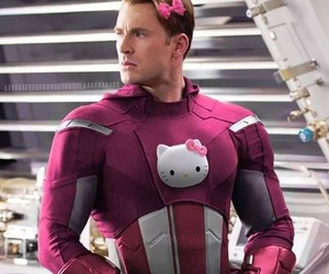 captain america, Avengers, and pink image