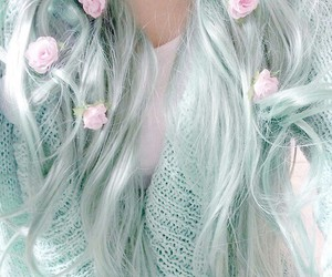 alternative, pastel, and blue hair image