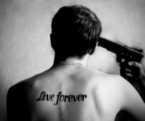 live forever, boy, and suicide image
