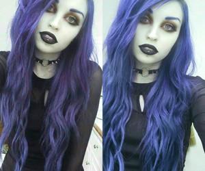 alternative, black lipstick, and goth image