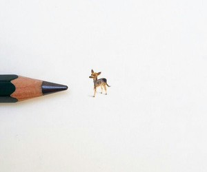 creative, deer, and pencil image