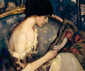 art, painting, and reading image