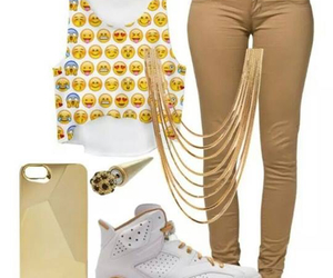 fashion, outfit, and jordans image