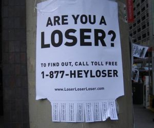 fail, loser, and text image