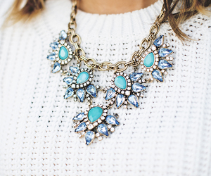 necklace, fashion, and blue image