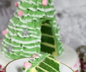 cake, christmas, and green image