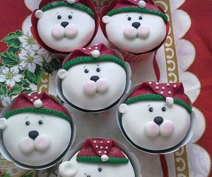 christmas, cupcake, and cake image