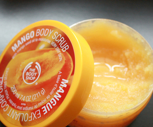 mango, the body shop, and body scrub image
