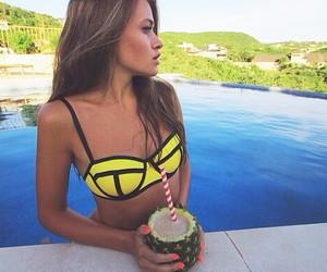 bikini, nails, and tropical image