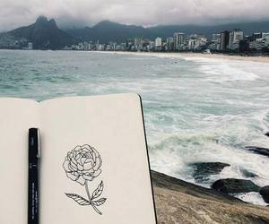 art, drawing, and ocean image