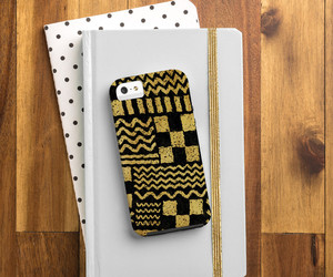 cell phone cover, vintage tribal aztec, and geometric collage image