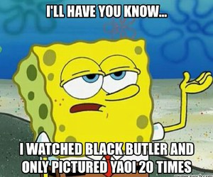 black butler, spongebob, and anime funny picture image