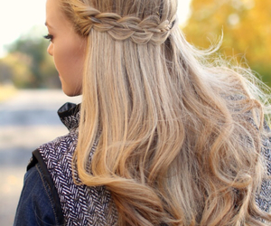 hair, pretty, and waves image