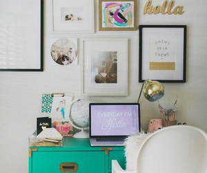 decor, decoration, and desk image