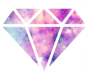 diamond, galaxy, and transparent image