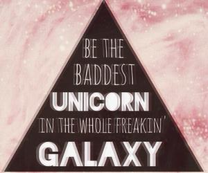 unicorn, galaxy, and pink image