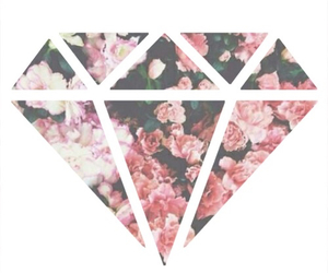 diamond and flowers image