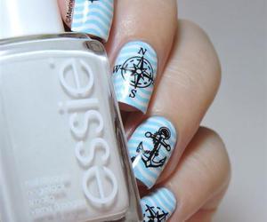 blue and nail art image