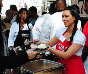 charity, kim kardashian, and soup kitchen image