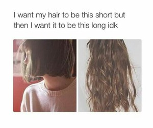 girl, hair, and girl problems image