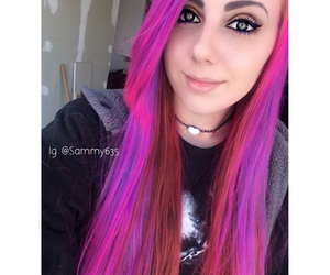 dyed hair, girl, and grunge image