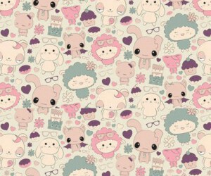 pattern, background, and kawaii image
