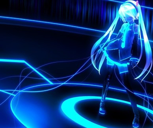 miku, neon, and vocaloid image