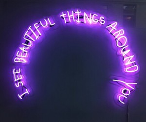 purple, neon, and light image