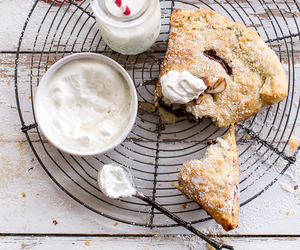 pie, whipped cream, and turnover image