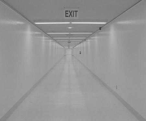 exit, white, and grunge image