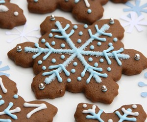 christmas, snowflake, and Cookies image