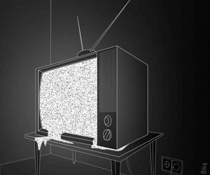 tv, black and white, and gif image