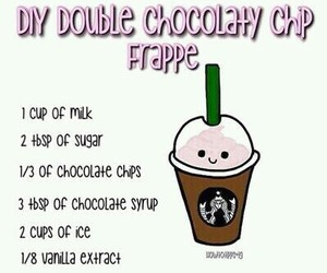 diy, chocolate, and frappe image