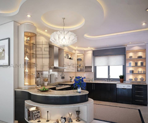 marble, white, and contemporary kitchen image