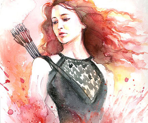 the hunger games, katniss everdeen, and art image