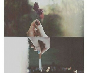 cigarette, smoke, and indie image